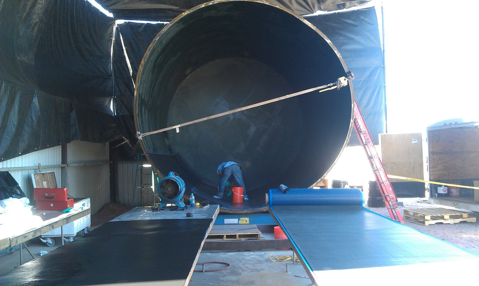 Rubber Bonded Rubber Liner Field Lining Systems Inc