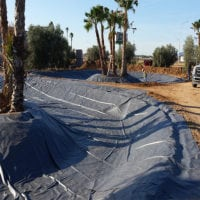 decorative pond liner pvc